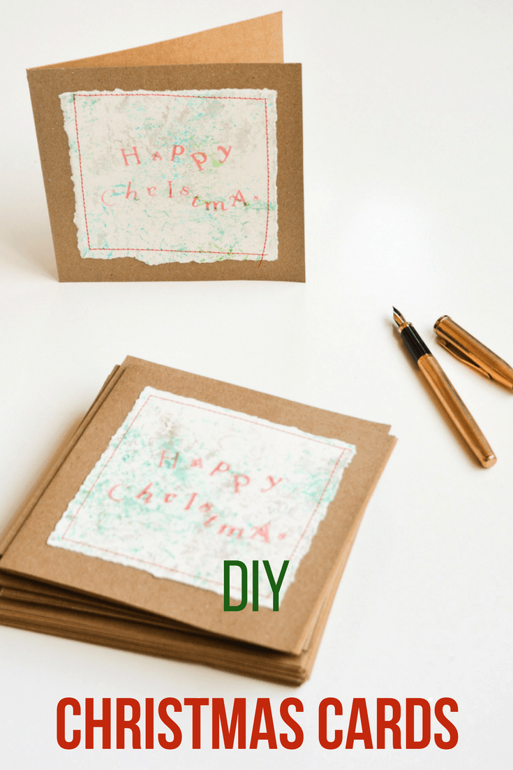 Bubble wrap printed DIY Christmas Cards