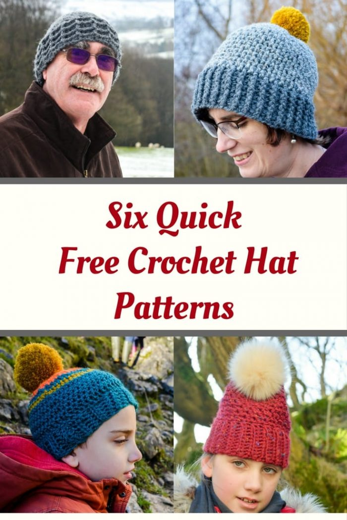 six quick and free crochet patterns