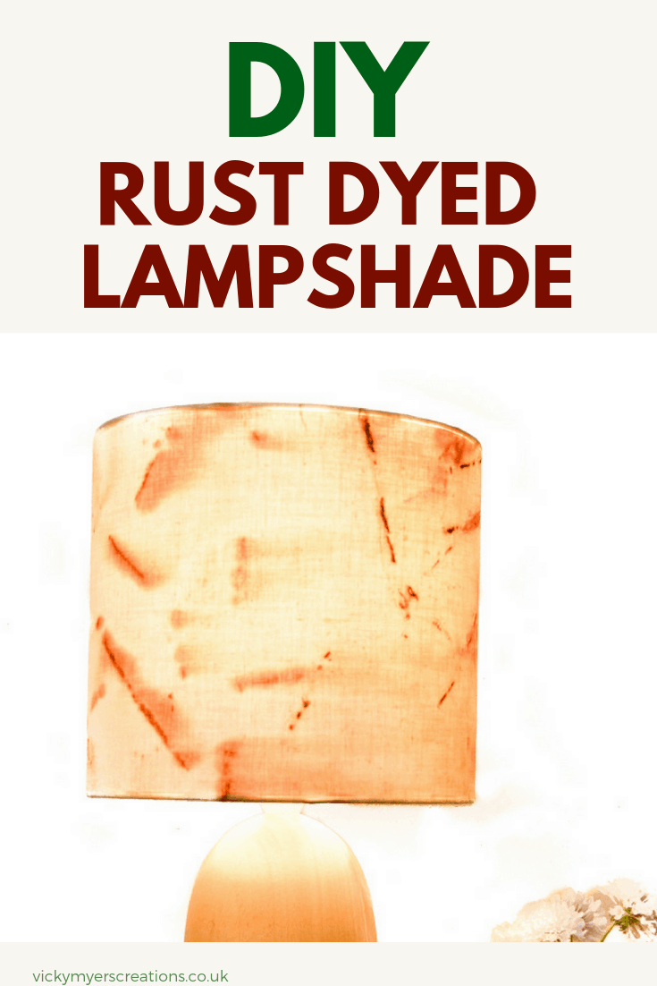 Learn how to rust dye fabric and make a fabric lampshade, DIY rust fabric ideas #fabriclampshadetutorial