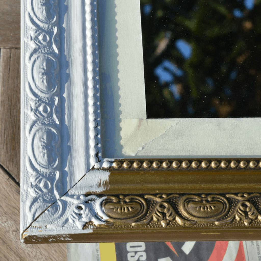 How To Paint Over A Gold Mirror Frame, How To Paint A Gold Framed Mirror
