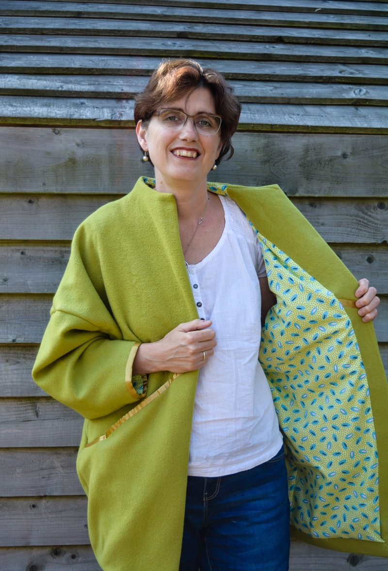 Upcycled Wool Blanket Coat - Sapporo Coat Pattern Review