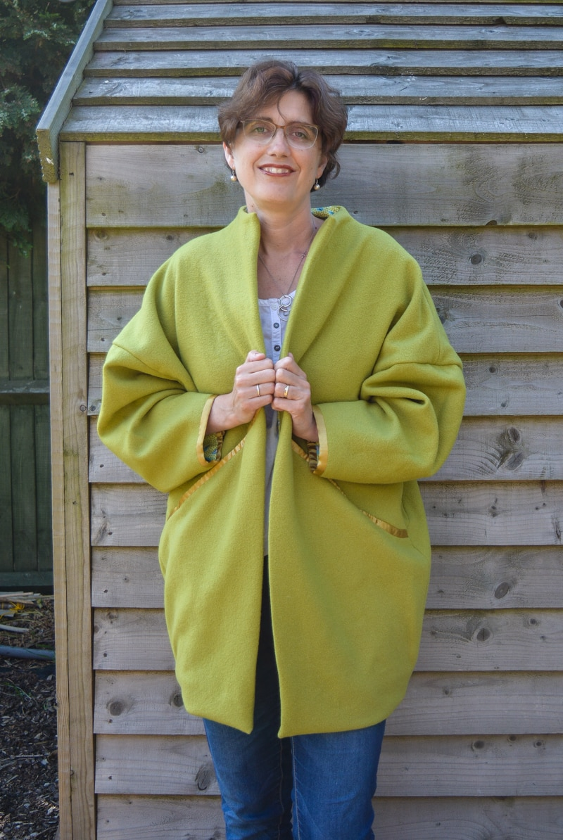Upcycled Wool Blanket Coat - Sopporo Coat Pattern Review