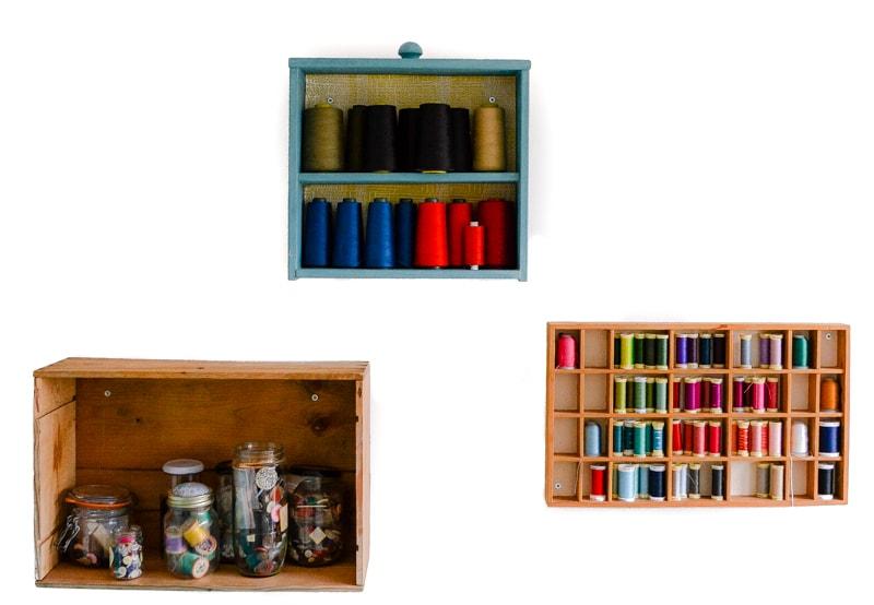 Craft room storage from a former drawer. A repurposed drawer into shelf. #DrawershelfDIY