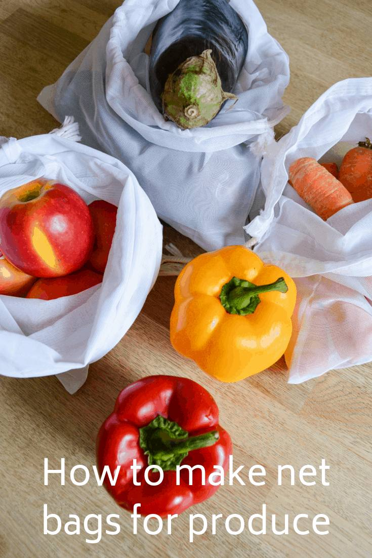 Reduce your personal single use plastic by spending thirty minutes whipping up net produce bags. How to make net bags for fruit and vegetables.