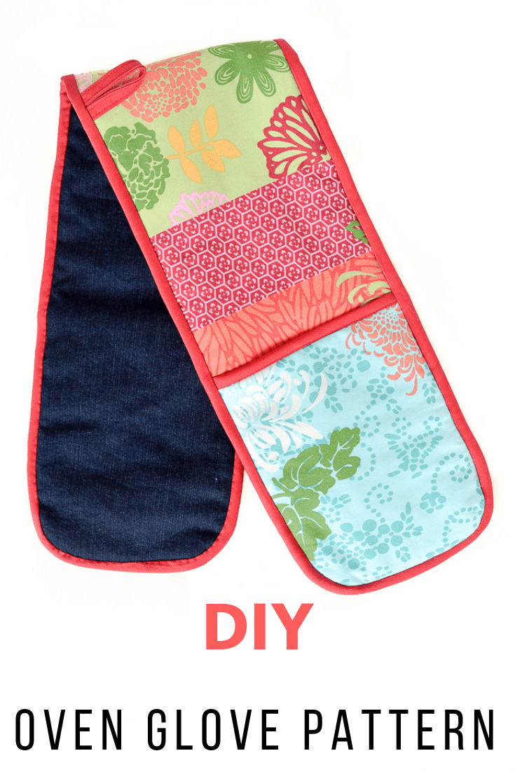 DIY Denim Oven Gloves - old jeans project, Oven Glove sewing pattern
