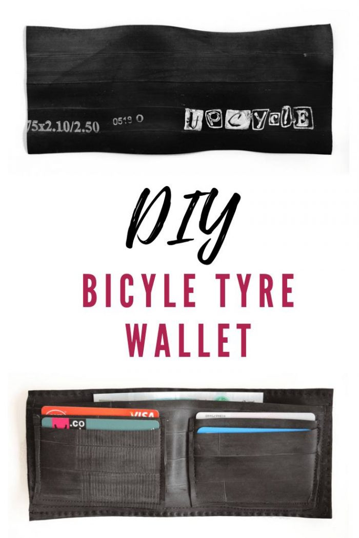Transform a bicycle tyre inner tube into a bicycle tyre wallet #mansgift #bicycletyrewallet
