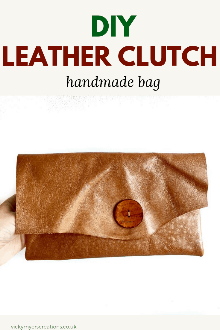 Learn how to make this gorgeous handmade leather clutch bag with step by step tutorial. You will be surprised at how easy/simple it is to make this DIY leather clutch #DIYclutchbag