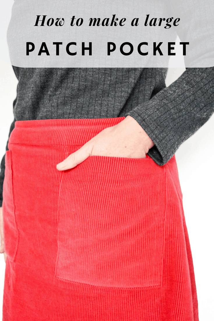 Do you see a garment of clothing, then work out how to sew your own? Learn how to pattern hack a skirt with large pockets. Make your own patch pockets with this easy tutorial #patchpockettutorial #patternhack #patchpocketideas #sewapatchpocket #sew