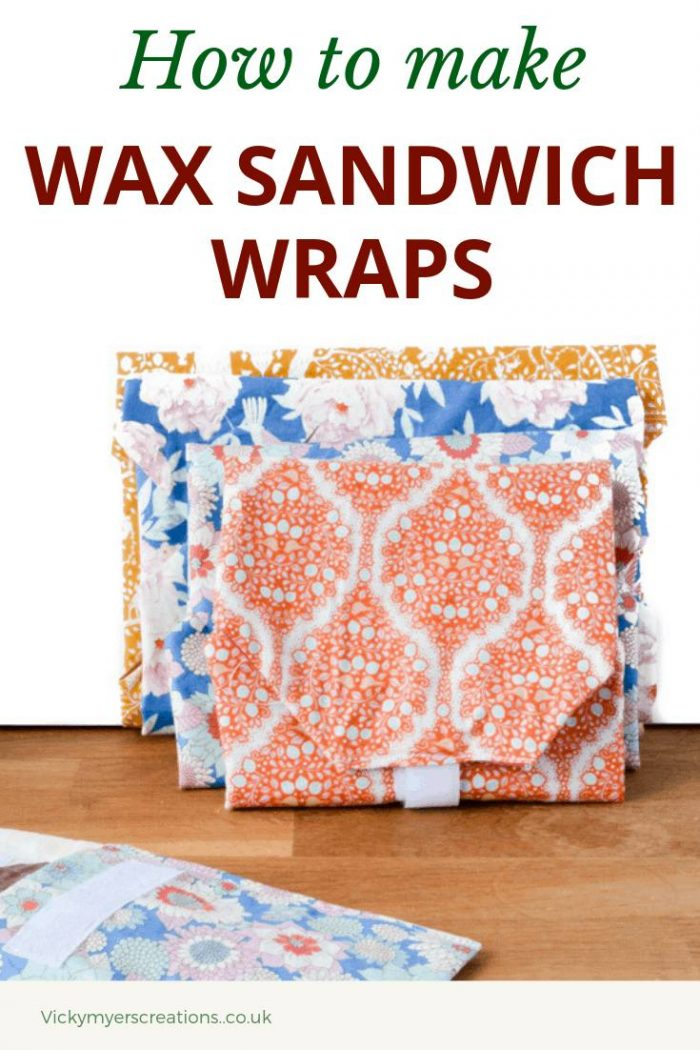 Learn how easy it is to make your own wax sandwich wraps. These reusable cloth sandwich wraps are perfect for picnics and packed lunches, ditch the plastic! Make your own reusable Sandwich wraps reuseable #waxwrapsDIY #reuseablesandwichwraps #reduceplastic
