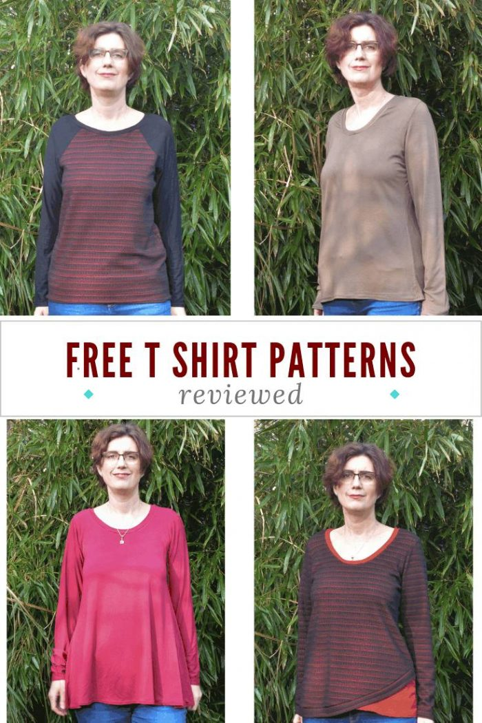 Tried and tested free t shirt patterns, turn your printer on ready for these great free PDF sewing patterns, available in a variety of sizes #TShirtpatterns #sewingpatterns
