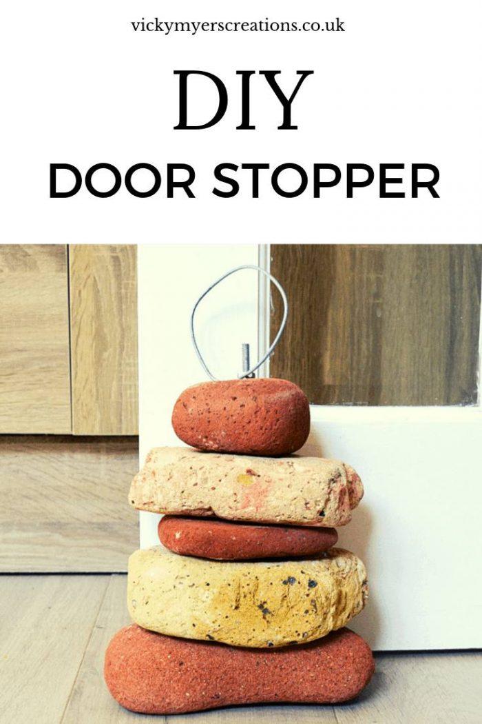 Learn how to make a heavy weight brick DIY handmade door stoppers #DIY #Doorstopper