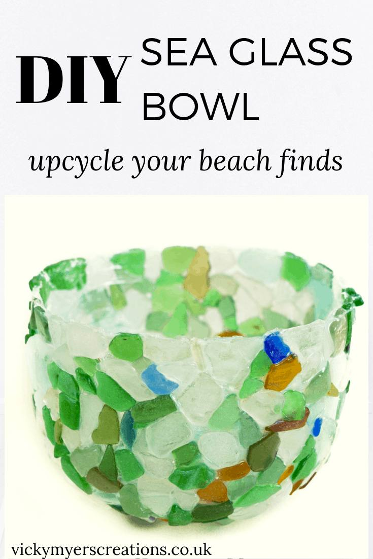 Learn how to make a sea glass bowl with tacky glue - this make a perfect craft for your lovely collected sea glass
