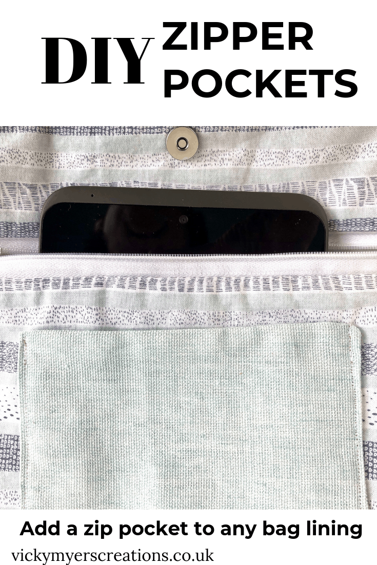 Learn how to sew a zipper pocket for any bag, either in the lining or as a feature on the outside of the bag with this super easy sewing tutorial.