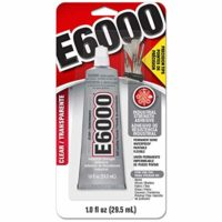 E6000 231020 Adhesive with Precision Tips, 1.0 fl oz, 2 Pack