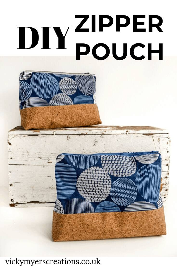Zippered Pouch with Flat Bottom in Safari Animal Fabric
