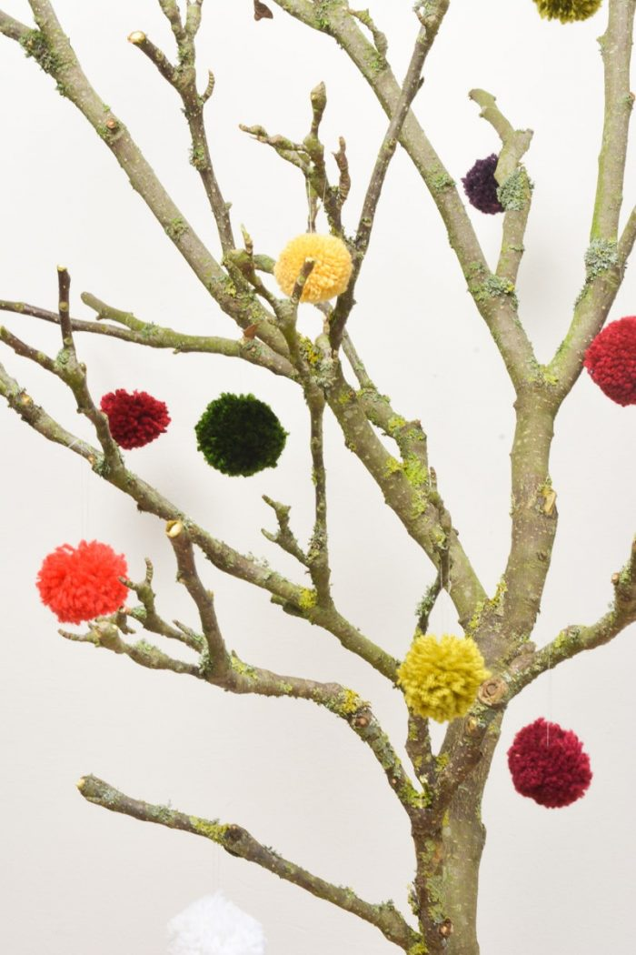 Alternative Christmas Tree From Tree Branches Vickymyerscreations