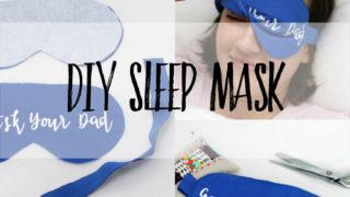 Free sleep mask pattern to sew