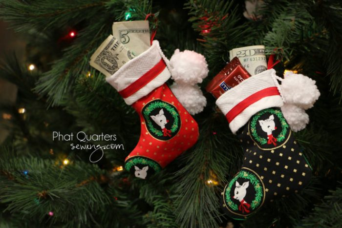 Small Christmas Stockings for Gift Cards & Money