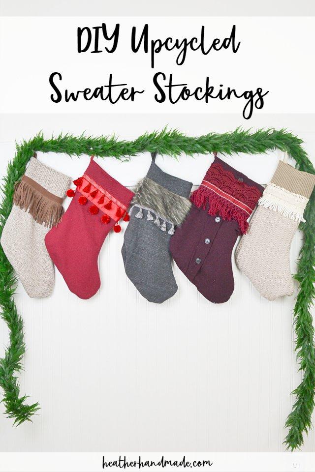 DIY Sweater Stockings