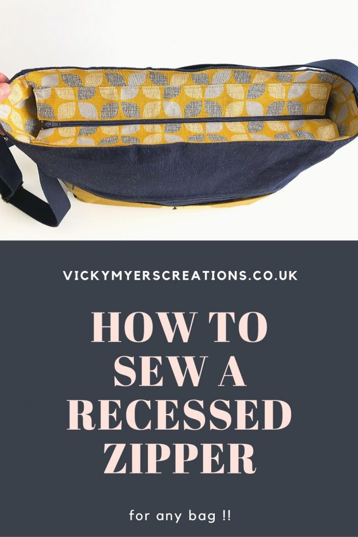 Learn how to sew a recessed zipper in a tote bag. In this tutorial, I will show you how to calculate the size of fabric and zip.