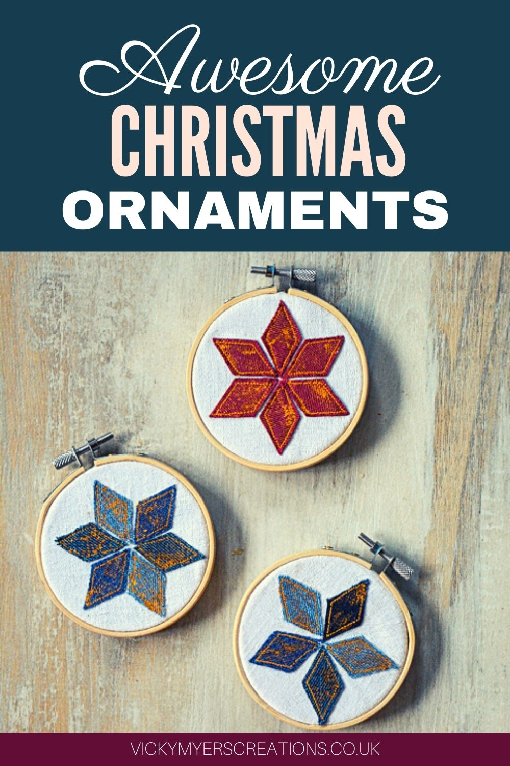 Looking for a simple, pretty homemade Christmas ornament?  Christmas ornaments made with embroidery hoops are super easy and fun. Find some scraps of fabric and lets get started