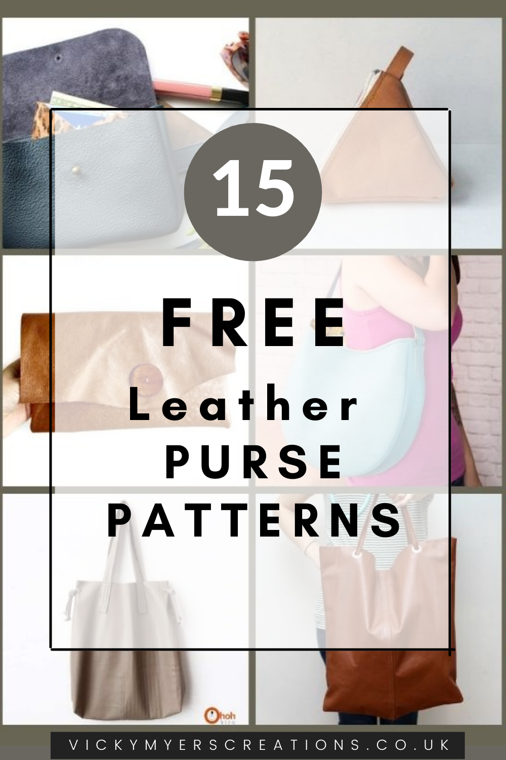 Learn how to sew your own stylish leather purses with this great selection of leather bag patterns