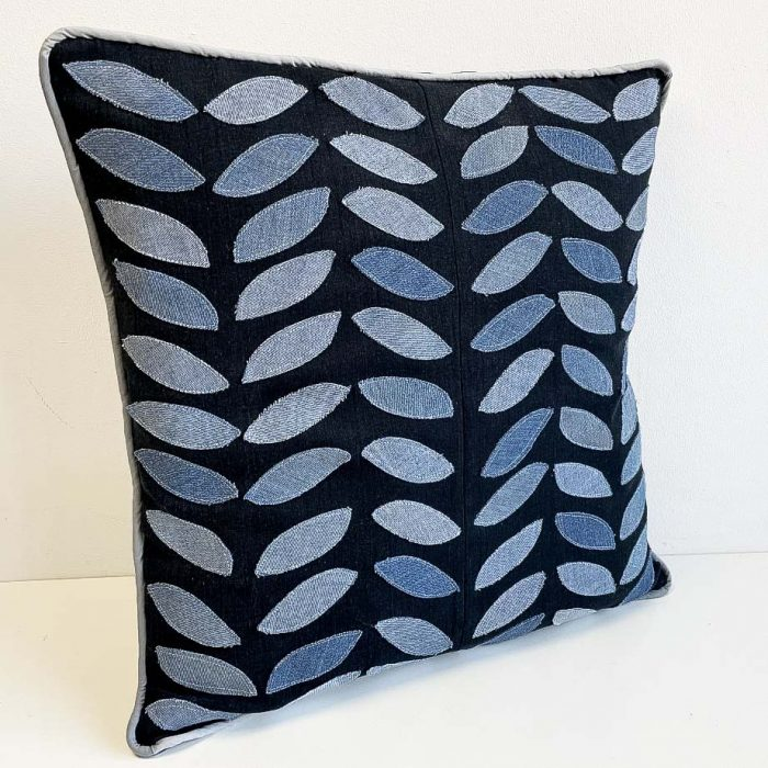 how to make a leaf design pillow cover vickymyerscreations